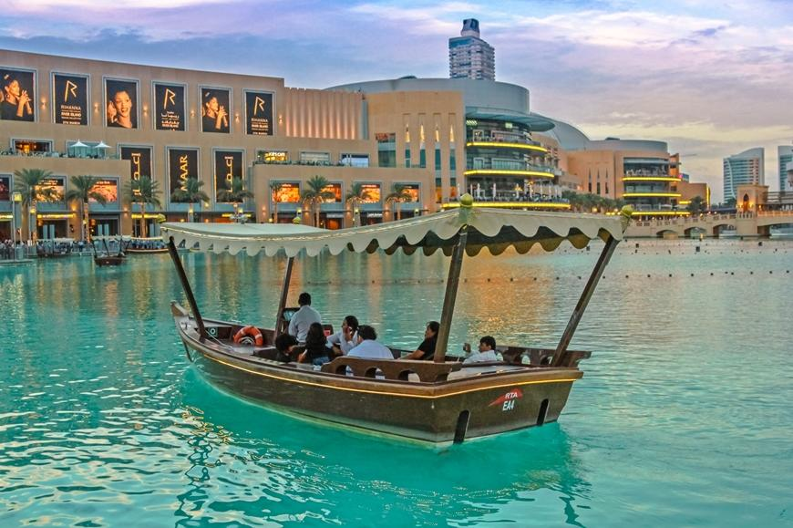 Bootsfahrt in Dubai Lake Fountain