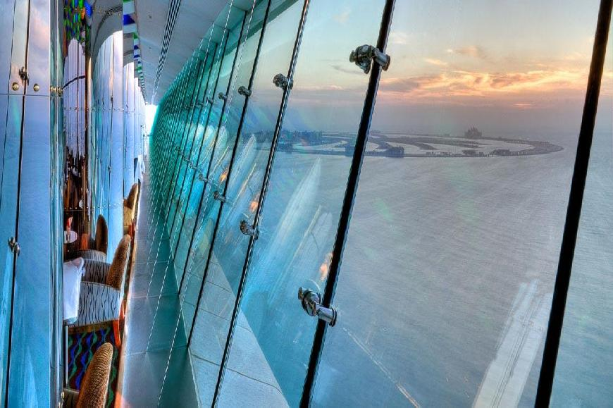 Dubai Burj Al Arab Sky View Bar Blick 4