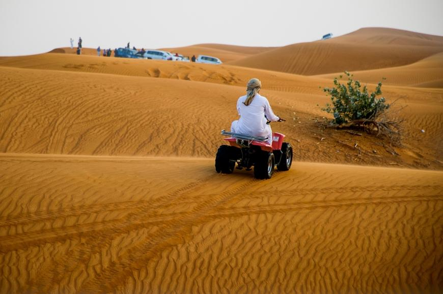 Quad Bike in Dubai Wüste