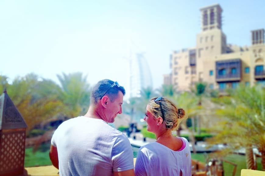 A couple at Madinat Jumeirah